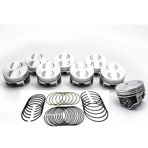 Speed Pro Trw Ford 289 302 5 0 Forged Coated Flat Top Pistons Moly Rings Kit 60