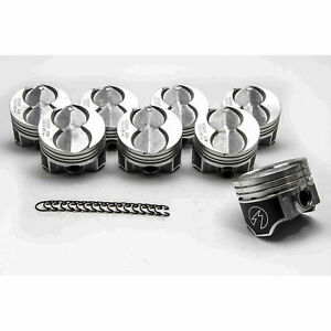 Ford 351w 5 8 Speed Pro Hypereutectic Coated Skirt Flat Top Pistons Set 8 060