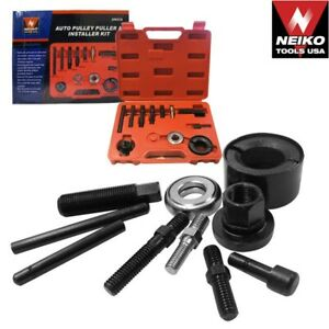 Auto Pulley Puller Installer Kit Remove Alternator Parts Power Steering Pulley