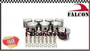 Speed Pro trw Chrysler dodge plymouth 383 Forged Flat Top Pistons Set 8 060