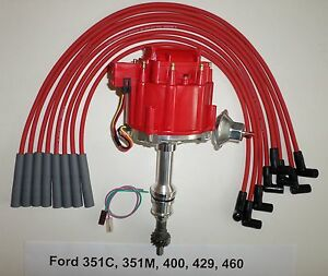 Big Block Ford 351c 351m 400 429 460 Red Hei Distributor Spark Plug Wires Usa