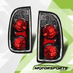 For 2000 2001 2002 2003 2004 Toyota Tundra Pickup Truck Black Brake Tail Lights