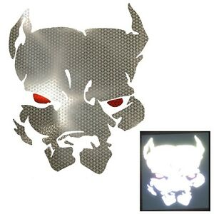 High Intensity Reflective Pitbull Decal Sticker Cars Motorcycles Dog Windscreen