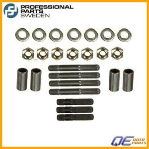 Saab 900 9000 9 3 9 5 1985 1986 1987 2009 Pro Parts Exhaust Manifold Stud Kit