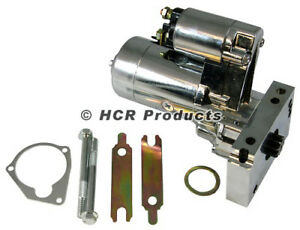 Small Block Chevy Chrome Mini Starter 3hp 153 Or 168 Tooth 327 350 400 Sbc