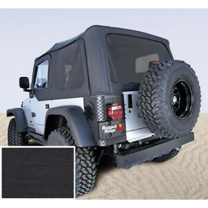 Xhd Black Diamond Soft Top No Door Skins Tinted For Jeep Wrangler Tj 1997 2006