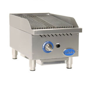 Globe Gcb15g sr Gas Countertop Stainless Steel Radiant Charbroiler