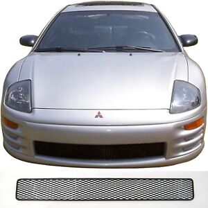 Ccg Mesh Grill Insert For 00 02 Mitsubishi Eclipse Black Diamond Xxl Flat Grille