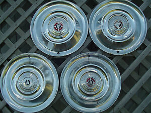1956 56 Chrysler Windsor Sarstoga Hubcaps Wheel Covers Antique Vintage Classic