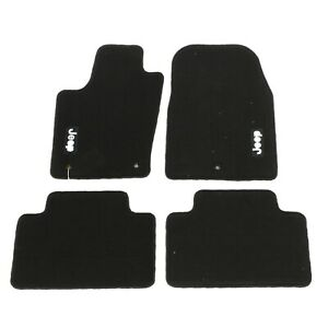 11 12 Jeep Grand Cherokee Premium Black Carpet Floor Mats W logo Set Of 4 Oem