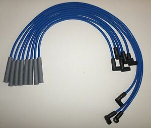 Oldsmobile 260 307 350 403 455 Hei 8mm Blue Spiral Core Spark Plug Wires Usa