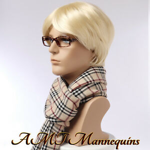 Male Mannequin Head Displays Wigs Hats Scarves Glasses Ear Phones Head Mo