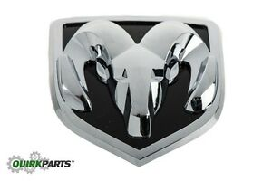 02 05 Dodge Ram 1500 2500 Ram Head Grille Emblem Chrome Black Oem New Mopar