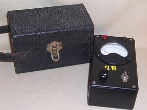 Vintage Westinghouse Ohms Meter Px 25 W Case Great Display Great Condition