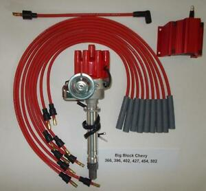 Chevy Big Block 396 427 454 Red Female Small Cap Hei Distributor Coil Plug Wires