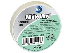 Intertape 85828 50 Pack 75in X 60ft Electrical Tape White