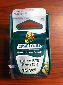 1 Roll Clear Duck Ez Start Packing Duct Tape With Dispenser 1 88 X 15 Yd