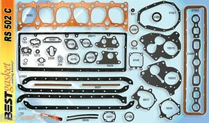 Chevy 216 235 Full Engine Gasket Set Best 1937 53 Copper Head Manifold Oil Pan