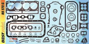 Ford 279 302 332 lincoln 317 Y block Full Engine Gasket Set Best 1952 63