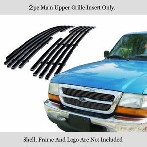 Fits 1998 2000 Ford Ranger Black Biller Grille Insert For 2wd Only