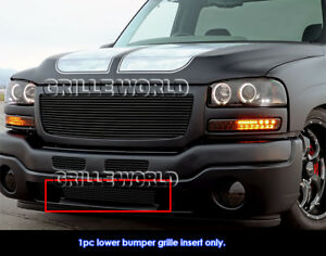 Fits 2003 2004 Gmc Sierra 2500 2003 2006 Sierra 1500 2500hd Black Billet Grille
