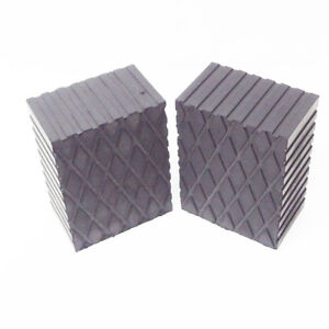 3 Tall Solid Rubber Stack Blocks For Any Auto Lift Or Rolling Jack Set Of 2