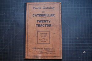 Cat Caterpillar Twenty 20 Tractor Dozer Crawler Parts Manual Book Catalog Spare