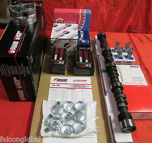 Chevy 327 Master Engine Kit Pistons Gaskets 1962 63 64 65 66 67 Stage 1 Tork Cam