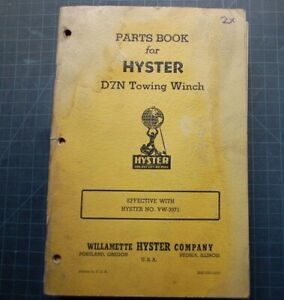 Hyster D7n Tractor Dozer Crawler Winch Parts Manual Maintenance Caterpillar Book