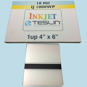 10 Id Card Kit For Inkjet Includes 1up Teslin Hico Butterfly Pouch Laminates