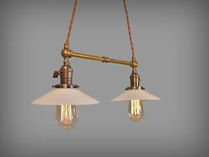 Industrial Lighting Vintage Brass Pendant Lamp Steampunk Lamp Pool Table