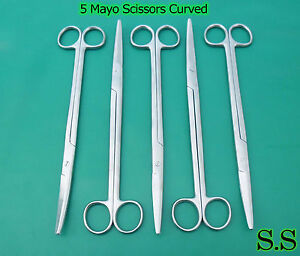 5 Mayo Scissors 10 Curved Surgical Dental Instruments