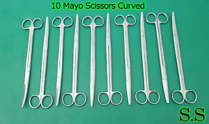 10 Mayo Scissors 10 Curved Surgical Dental Instruments