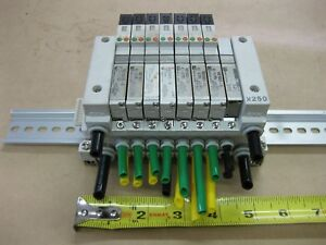 Smc Pneumatic Pcw Type 8 Valve Bank Lot Vq1501 5 24vdc x250 Mount Module