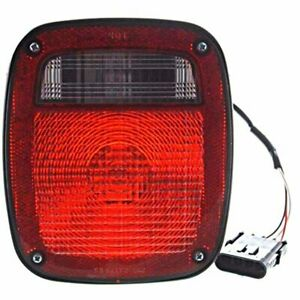 Fits 91 95 97 Wrangler Right Pass Tail Lamp Light Flat Female Connector