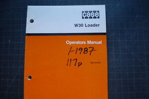 Case W30 Wheel Loader Operation Maintenance Manual Operator Book Pay 1987 Oem