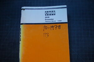 Case 880b Crawler Excavator Operation Maintenance Manual Operator Book Track Hoe