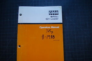 Case 621 Wheel Loader Operation Maintenance Manual Operator Book Pay 1988 Shop