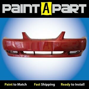 1999 2000 2001 Ford Mustang base Front Bumper Painted E9 Laser Red Metallic