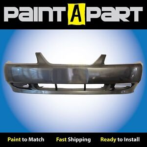 2002 2003 2004 Ford Mustang Base Front Bumper Painted Cx Dark Shadow Gray Met