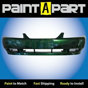 2002 2003 2004 Ford Mustang Base Front Bumper Painted Sw Electric Green Met