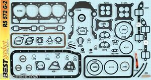 Ford mercury 312 Y block Full Engine Gasket Set kit Best Head intake 1956 60
