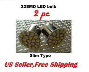 2 X White 22 Smd Led Bulb 1156 67 For License Plate Reverse Slim