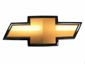 Oem New Front Grille Bowtie Emblem Badge Gold Black 07 14 Silverado 22829421