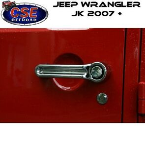 Door Handle Cover Kit Chrome For Jeep Wrangler Jk 2007 2018 13311 11 Rugged Ridg