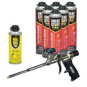 Dow Great Stuff Pro Gaps And Cracks 24 Oz Cans Pro Foam Gun Dow Foam Cleaner