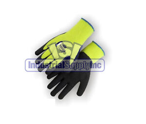 12pk High Visibility Winter Thermal Rubber Coated Medium