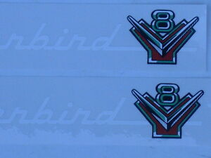 54 55 56 Ford 272 292 312 Ford Engine Valve Cover Decal Set New