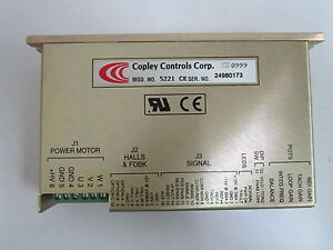 Copley Controls Dc Brushless Servo Amplifier Model No 5221 ce