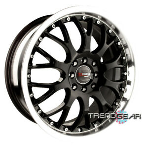 17 drag Dr19 Black Wheels Rim 240sx 300zx Maxima